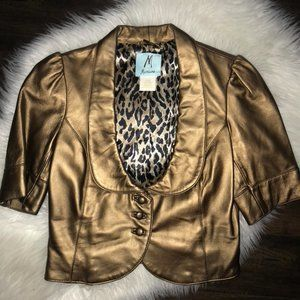 Marciano authentic leather cropped jacket sz S